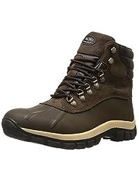 Men Warm LONG Waterproof Winter Snow Leather Boots