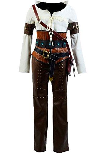 [Wild Hunt Costume Cirilla Fiona Elen Riannon Outfit Ciri Costume Uniform ,Large] (Witcher 3 Ciri Costume)