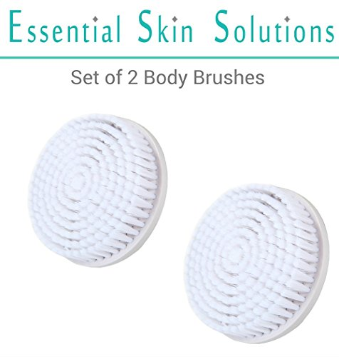 Body Brush Replacement Head - Fits Perfect Skin Brushing by Essential Skin Solutions - Set of 2 Body Brushes - Clarisonic Body Brush Head