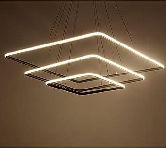 Saint Mossi Design exclusif Carré moderne Led Lustre Suspension réglable  Lumière Tania Trio Collection Plafonnier contemporain plafond Luminaire ...