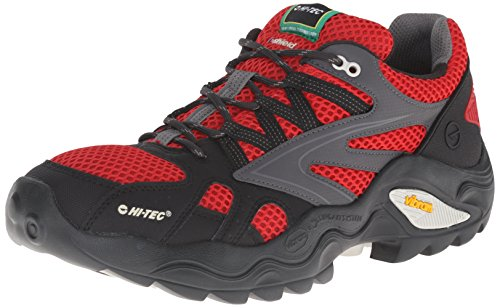 Hi-Tec Men's V Lite Flash Force Low I Waterproof Trail Shoe, Lingon/Black/Graphite, 8 M -