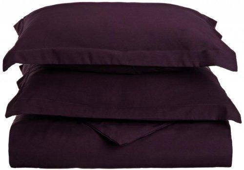 Clara Clark Premier 1800 Series 3-Piece Duvet Cover, California King, Purple Eggplant (Clara Clark Silk Sheets)