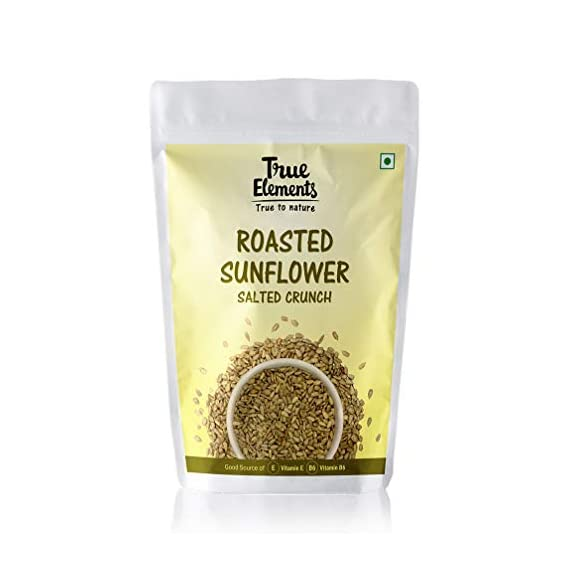 True Elements Roasted Sunflower Seeds (Salted Crunch), 125gm