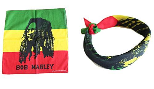1pcs Bandana BOB Marley Rasta Handkerchief Headwrap Bandana Scarf 100% Cotton 55x55cm -