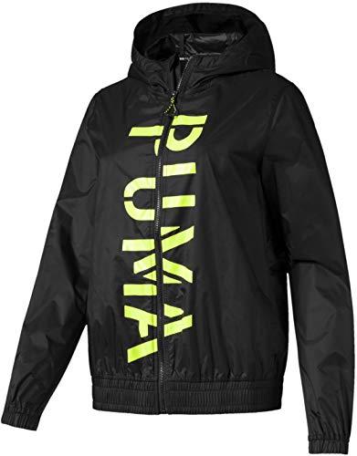 PUMA Women's BE Bold Graphic Woven Jacket, Black, - Jacket Puma Woven Womens