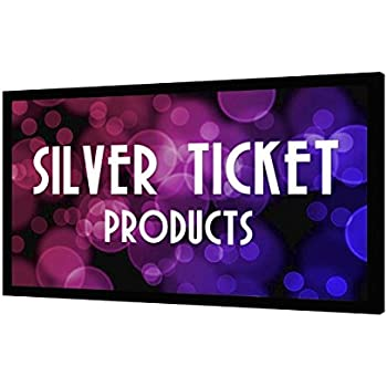 """STR-169120-HC Silver Ticket 4K Ultra HD Ready Cinema Format (6 Piece Fixed Frame) Projector Screen (16:9, 120"""", High Contrast Material)"""