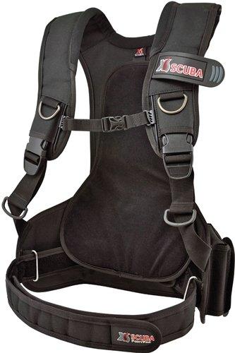 XS Scuba Pony Pac Scuba Tank Harness - RG ,Black ,Regular, waist ()