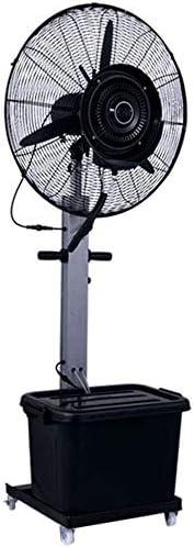 強力ファン ファン 強力ファン ファン 屋外ミストファン振動ペデスタルファンウォータースプレー冷却ファン3速オプション、90度振動ヘッド、強力なエアフロー