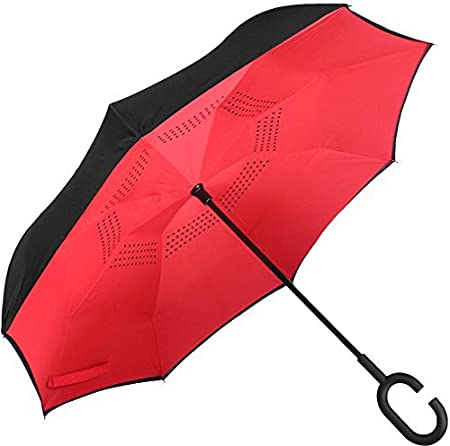 ShoppoZone Inverted Umbrella,Double Layer Reverse Umbrella