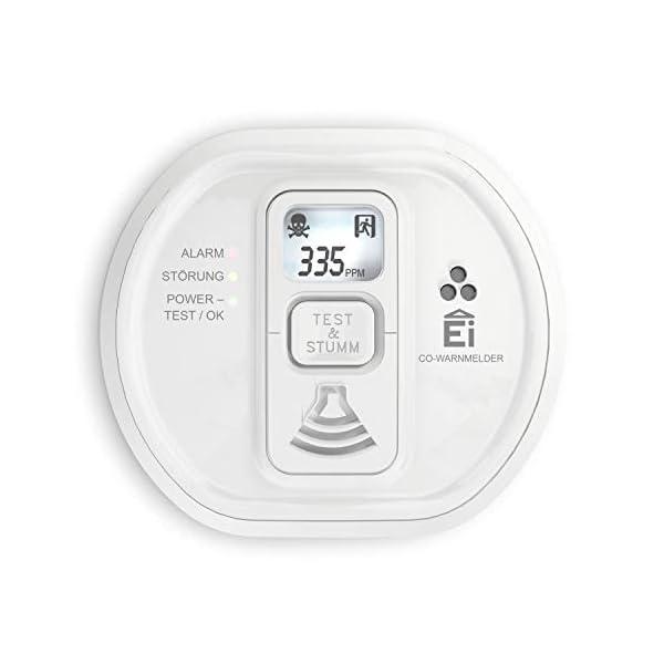 410Hy6DedSL Ei Electronics Ei208D CO Kohlenmonoxidmelder (mit Display und 10-Jahres-Batterie)