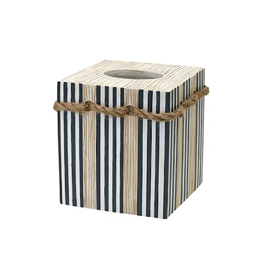 Zenna Home, India Ink Beach Cottage Tissue Box Cover, Nautical