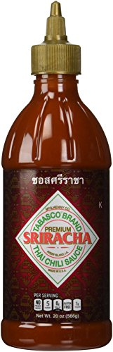 Tabasco Sriracha Sauce - Authentic Thai Chili Sauce - 20 Ounce Plastic Bottle