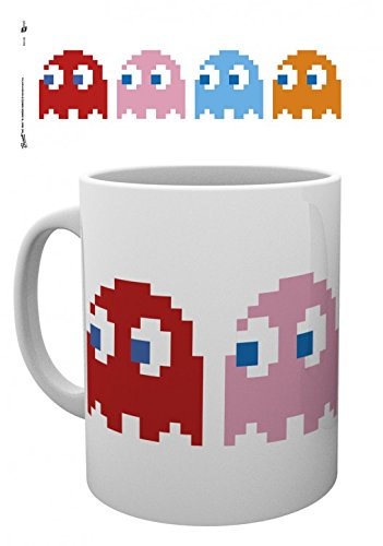 Set: Pac-Man, Ghosts Photo Coffee Mug (4x3 inches) And 1x...
