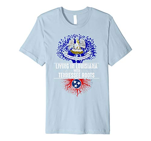 - Louisiana Home Tennessee Roots State Tree Flag Shirt Gift