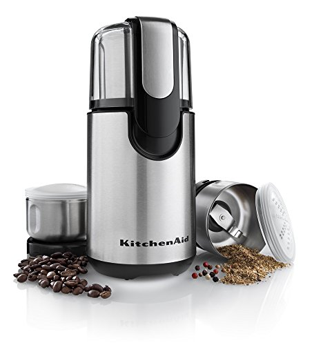 KitchenAid BCG211OB Blade Coffee and Spice Grinder Combo Pack  Onyx Black