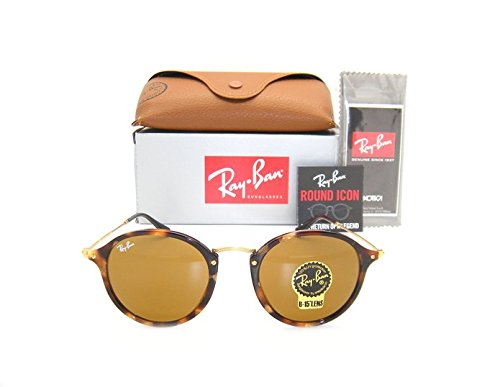 - Ray-Ban Round RB 2447 1160 49mm Spotted Brown Havana Frame / Brown Lens