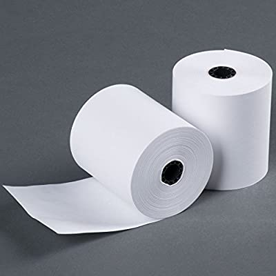 "3"" 165' FT 1 Ply Bond Paper (50 Rolls) Kitchen Printer Paper from BuyRegisterRoll.com"