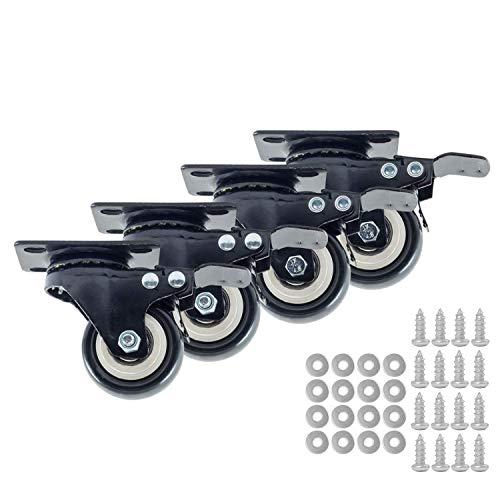 Houseables Caster Wheels, 4 Locking Castors, 2