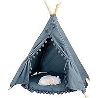 little dove Tente pour Chien Tipi à la Maison et à la Tente avec Dentelle pour Chien ou Animal de Compagnie Amovible et Lavable en Machine avec Macarons