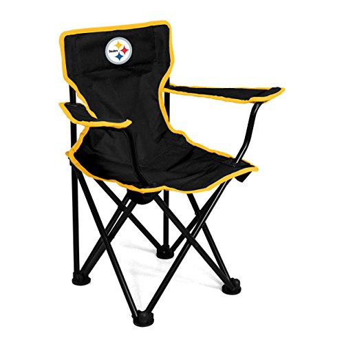 Logo Brands NFL Pittsburgh Steelers Toddler Chair, One Size, Charcoal
