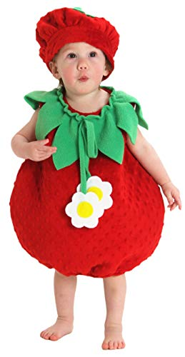 Princess Paradise Baby Girls' Bubble Strawberry Deluxe Costume, As Shown, 12 to 18 Months ()