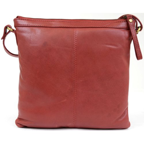 Strap Adjustable Soft Cross Leather Body Bag with Shoulder Premium Butter Snugrugs Ladies Red fwEzPP
