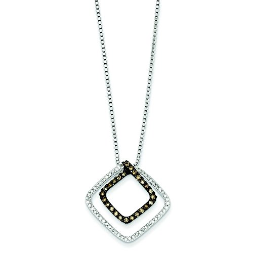 Argent Sterling diamant et diamants Champagne JewelryWeb-forme