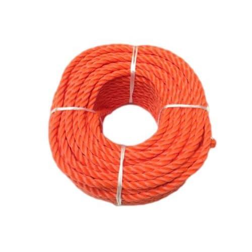 RopeServices UK 10Mm X 50 Metre Coil Of Orange Polyethylene Rope,Floating Rope,Boats,Yachts