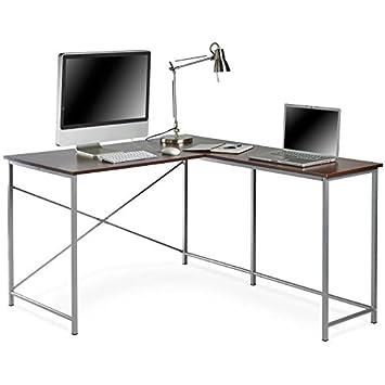Genérico Ion Escritorio para Ordenador Portatil Escritorio Portatil PC Oficina Worksta Esquina Moderna L ing de Portátil PC Mesa Escritura Estudio ...