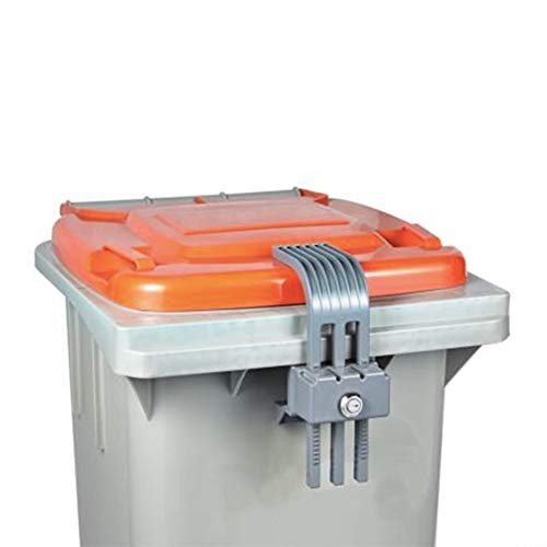 - Conpotech Co.,Ltd Garbage Lock Trash can lid Lock Garbage can Security bin Lock, Lock Device Used for Waste Bins, Prevents Illegal Disposal of Food Waste & Offers Protection from Animals and Insects.