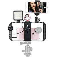 Ulanzi Smartphone Video Shooting Kit - U rig Pro Video Rig + Boya BY-MM1 Microphone + 49 LED Video Light + Clip on Remote Control + Cold Shoe Mount Ball Head +Universal Phone Clip for iPhone