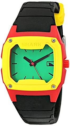 Freestyle Unisex 102292 Classic Analog Green Dial Black Strap Buckle Watch (Freestyle Shark Green Watch)