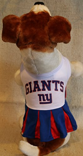 Nfl Giants Uniform Costumes (NEW YORK GIANTS CHEERLEADER DOG DRESS OUTFIT ALL SIZES LICENSED NFL (XS))