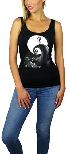 Disney Womens Nightmare Before Christmas Graphic Tank Top (Black, X-Large)