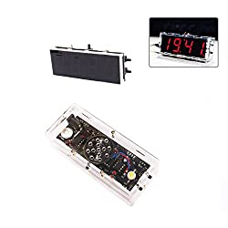 Electronic Clock,OHTOP DIY Digital LED Electronic Clock Kit Learning Board Large Screen With Voice 4 Color (Red)