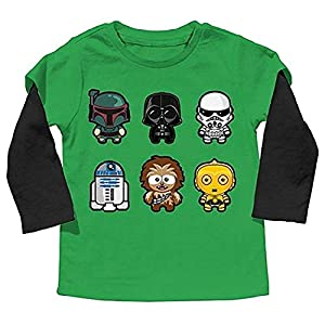 Star Wars Little Boys' Toddler Mock Layer Long Sleeve Tee