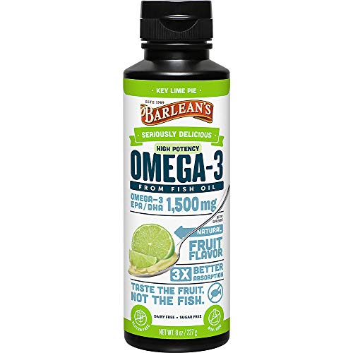 Barlean's Seriously Delicious Omega-3 High Potency Fish Oil, Key Lime Pie, 8-oz (Best Otc Fish Oil)