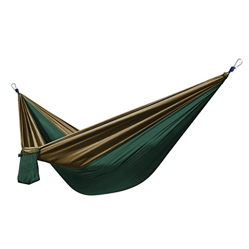 Enkeeo-Portable-Travel-Camping-Hammock-450lbs-Compact-2-Person-Double-Multifunctional-Parachute-Nylon-Fabric-Hammocks-for-Picnic-Hiking-Traveling-Park-Beach-Playing-or-Backyard-Relaxing-ArmyOlive