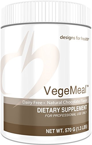 Designs for Health - Vegemeal (Formerly PaleoMeal DF) Chocolate - Dairy + Gluten Free Natural Pea Protein Isolate Powder for Detox, Muscle & Weight Control Support, 570 Grams by designs for health