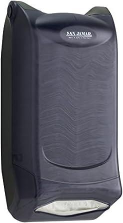"San Jamar H5005P Venue Wall Mount Fullfold Control Napkin Dispenser, 600 Capacity, 8"" Width x 15-3/4"" Height x 7-3/4"" Depth, Black Pearl"