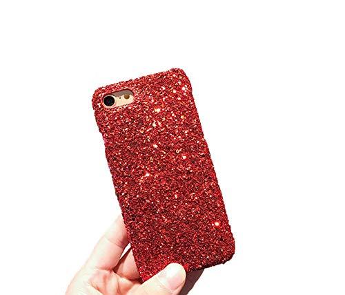 Xoxo Hobo Handbag - Sparkle Glitter Phone Case for iPhone X 8 7 6 S 6S Plus 5 5S SE Powder Sequins Diamond Cover for iPhone 7, Red,for iPhone X
