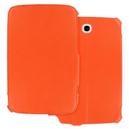 Samsung Galaxy Note 8.0 Case, MPERO Collection Orange Leather Slim-Line Folio Case for Samsung Galaxy Note 8.0