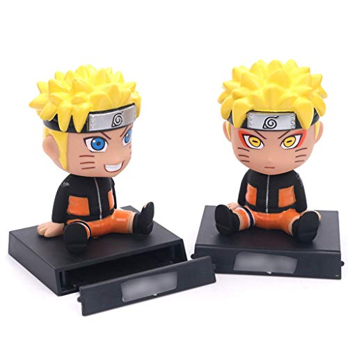 WDXFD Anime Desktop Decoration Toys Collection Naruto Shaking Head 2 Q Edition Beautiful Computer Chair Knight Model Jewelry Anime Handcuffs Car Decoration (Color : 2)