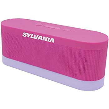 Sylvania SP136-pink Bluetooth Moonlight Speaker with 7-Color Changing LED  Lights (Pink