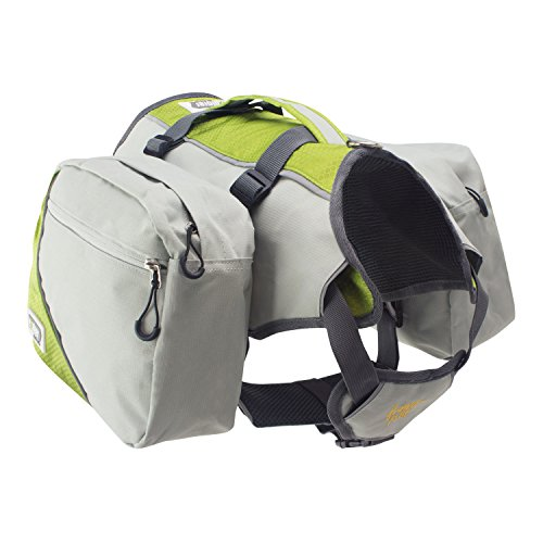 FrontPet Explorer Dog Backpack with Harness and Removable Saddle Bags. Green