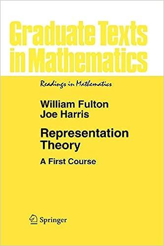 Pdf fulton harris representation theory
