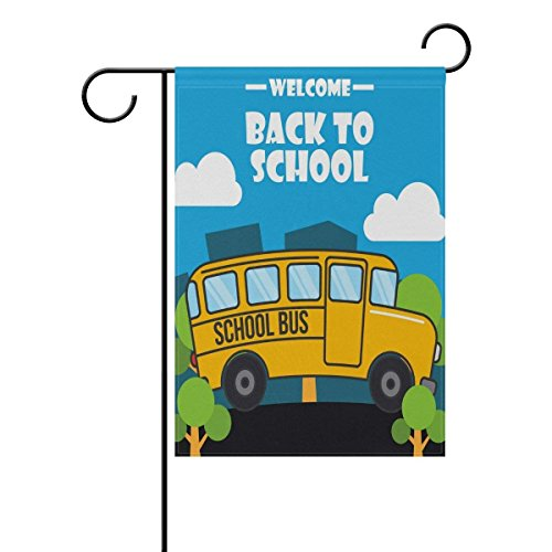 Welcome Bus Back to School Day Garden Flag 12 X 18 Large Inc