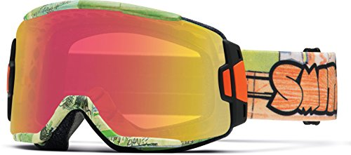 (Smith Optics Squad Cylindrical Series Winter Sport Snowmobile Goggles Eyewear - Jenkins Orange/Red)