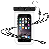 YOSH Waterproof Phone Pouch Waterproof Phone Case Cell Phone Dry Bag Underwater Pouch Compatible iPhone Xs Max/XS/XR/X/8/7/6/6S Plus/SE Galaxy S9 S8 S7 S6 Edge Note 5 4 Huawei P20 up to 6.2″(Clear) For Sale