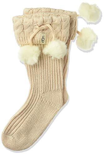 UGG Girls' Big Raana Pom Rainboot Sock, fairy pink/Silver,, used for sale  Delivered anywhere in USA